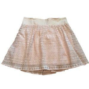 Delia's Cream Lace Skirt